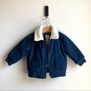 NEW Boys 12-18 Month Baby Gap Fleece Bomber Jacket